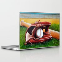 baseball Laptop & iPad Skins featuring Baseball by A Calcines