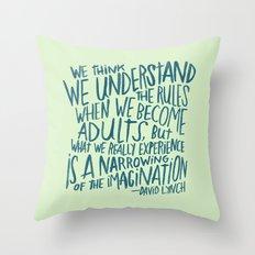DAVID LYNCH ON GROWING UP Throw Pillow
