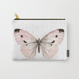 Butterfly flutter - soft peach Carry-All Pouch
