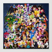 dragonball z Canvas Prints featuring DragonBall Z - Insane amount of Characters by Mr. Stonebanks