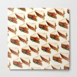Sandwich Pattern BLT Metal Print