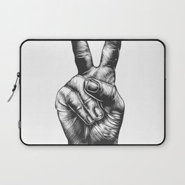 Cool Peace Hand Tees For Boys And Girls Peace And Love Laptop Sleeve