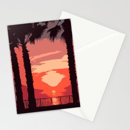 Evening Sunset Along The Walk Stationery Cards