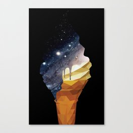 Melted Galaxy Cone Canvas Print