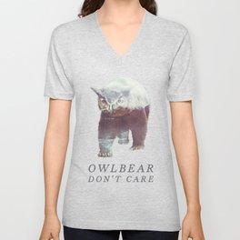 Owlbear (Typography) Unisex V-Neck