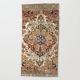 Ferahan Arak  Antique West Persian Rug Print Beach Towel