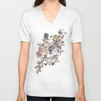 la V-neck T-shirts featuring La Dolce Vita by Norman Duenas