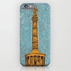 Siegessäule Drawing Meditation - Blue Slim Case iPhone 6s