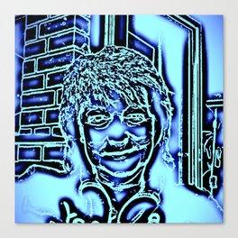 Neon-portrait Canvas Print