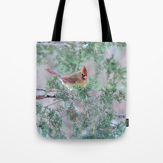 Pretty Female Cardinal Tote Bag