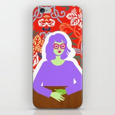 Wren and Wallpaper iPhone & iPod Skin
