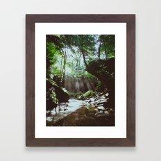 Streams of Light Framed Art Print