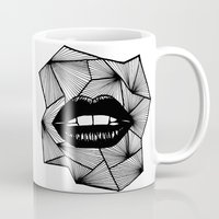 lips Mugs featuring Lips by Aurelie