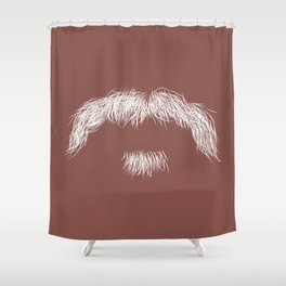 The Dirty 'stache Shower Curtain