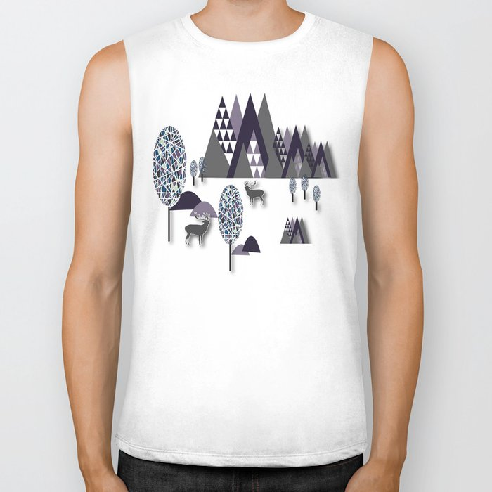 To Be Free In The Mountains Biker Tank