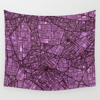 maps Wall Tapestries featuring Fantasy City Maps 4 by MehrFarbeimLeben