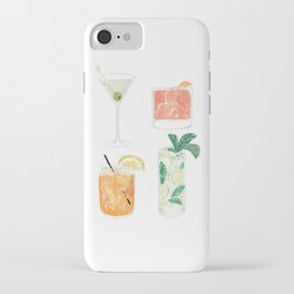 Colorful cocktails iPhone Case