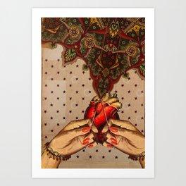 OPEN HEART Art Print