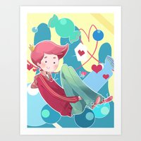 gumball Art Prints featuring Prince Gumball by Sei00