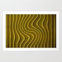 Yellow Roller Shutter 2 Art Print