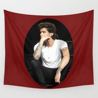 zayn Wall Tapestries featuring Zayn  by clevernessofyou