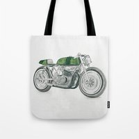 motorbike Tote Bags featuring MOTORBIKE by EDENLAND