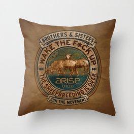 the awaken sheep Throw Pillow
