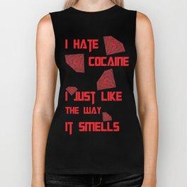 I hate Cocaine #4 Biker Tank