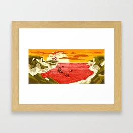 Pixel Beach Framed Art Print