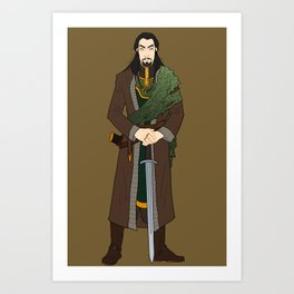 The Siblings: Jormungandr Art Print