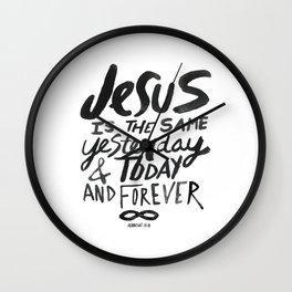 Hebrews 13: 8 Wall Clock