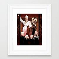 ahs Framed Art Prints featuring AHS Hotel by David M. Buisán