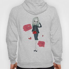 Stylish Parisian girl Hoody
