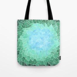Abstract Sea Glass Tote Bag