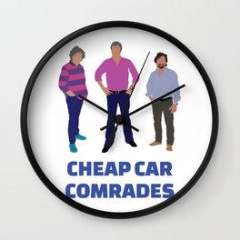 """Cheap Car Comrades"" - Clarkson, Hammond and May art work Wall Clock"