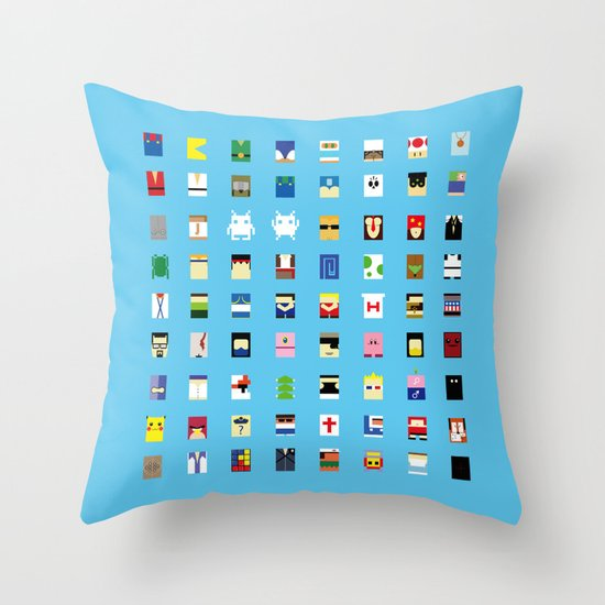 Minimalism beloved Videogame Characters Throw Pillow