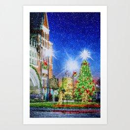 Home Town Christmas Art Print