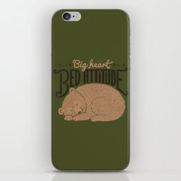 Big Heart Bed Attitude iPhone Skin