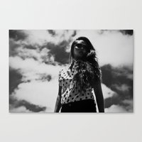 polka Canvas Prints featuring Polka  by Bub's Store