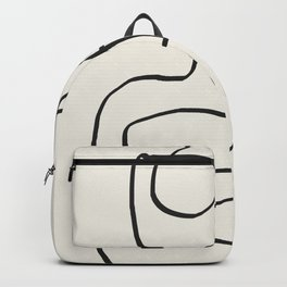 Abstract line art 15 Backpack