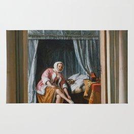 "Jan Steen ""Woman at her Toilet"" Rug"