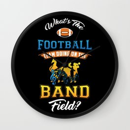 MARCHING BAND - Football Team On Band Field Gift Wall Clock
