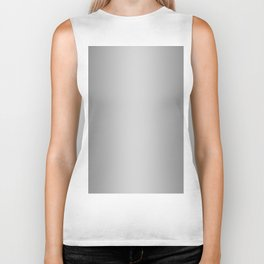Gray to White Vertical Bilinear Gradient Biker Tank