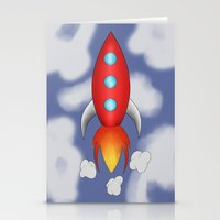 rocket Stationery Cards featuring Rocket by PrisonBlockS