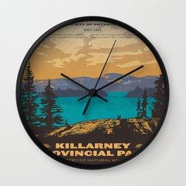 Vintage poster - Killarney Provincal Park, Canada Wall Clock