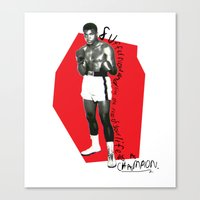 ali gulec Canvas Prints featuring Ali by Dayle Kornely