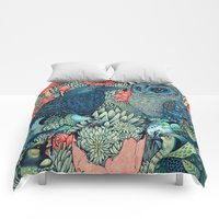 Comforters featuring Cosmic Egg by Angela Rizza