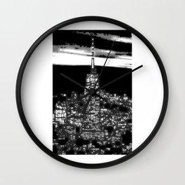 1930 New York City by night Wall Clock