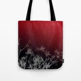Tree Top-Red Tote Bag