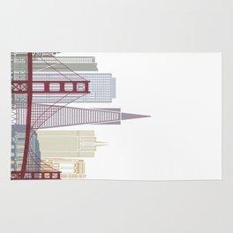 San Francisco skyline poster Rug